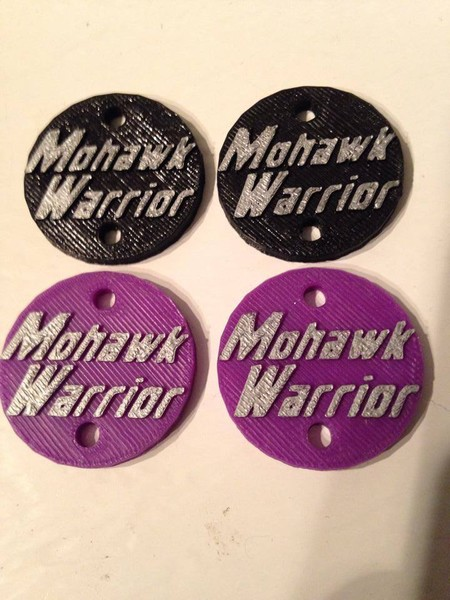"CPE-MWMOTCVR:  ""Mohawk Warrior\"" Embossed Motor Covers"