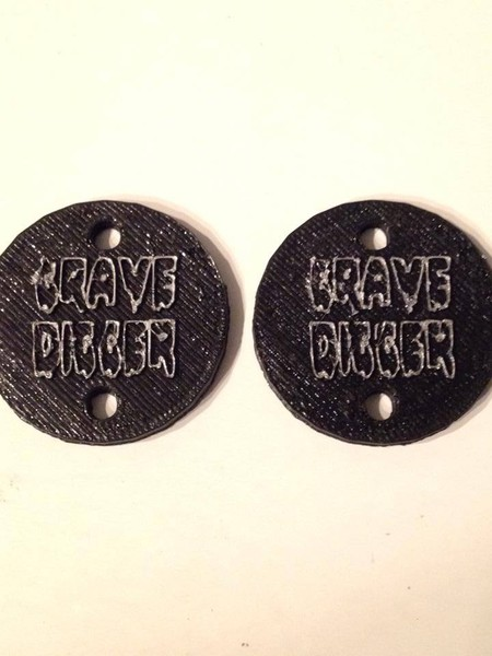 "CPE-GDMOTCVR:  ""Grave Digger\"" Embossed Motor Covers"