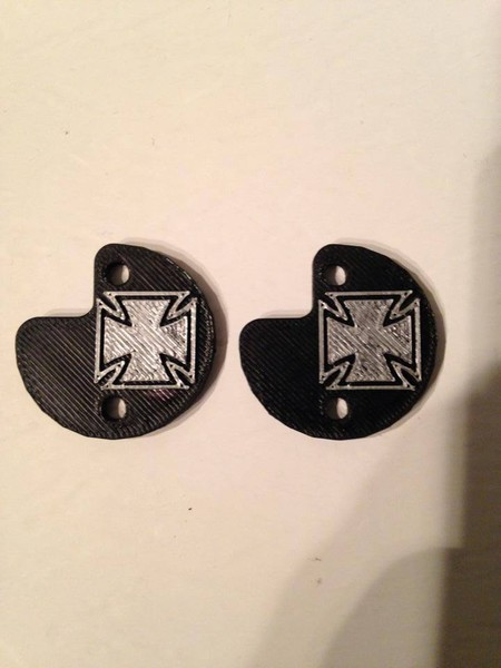 "CPE-CROSSMOTCVR:  ""Iron Cross\"" Embossed Motor Covers"