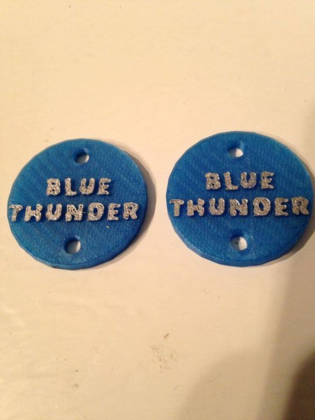 "CPE-BTMOTCVR:  ""Blue Thunder\"" Embossed Motor Covers"