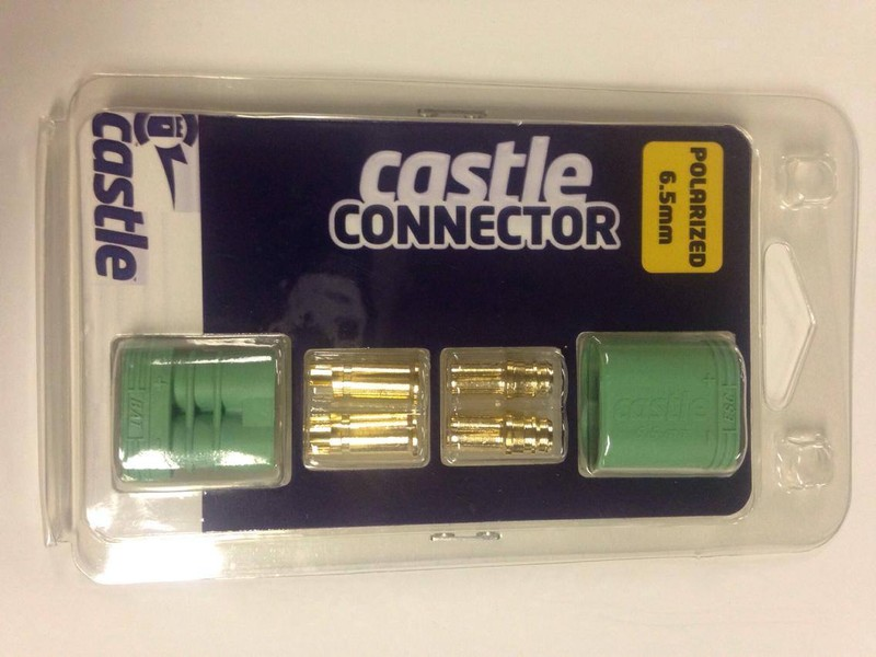 CPE-CASTLE65:  Castle Creations 6.5MM Polarized Bullet Connector