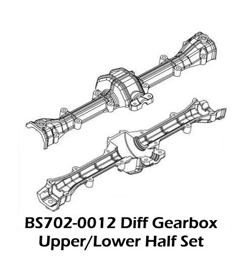 BS702-0012: Ground Pounder Upper/Lower Axle Housing Set