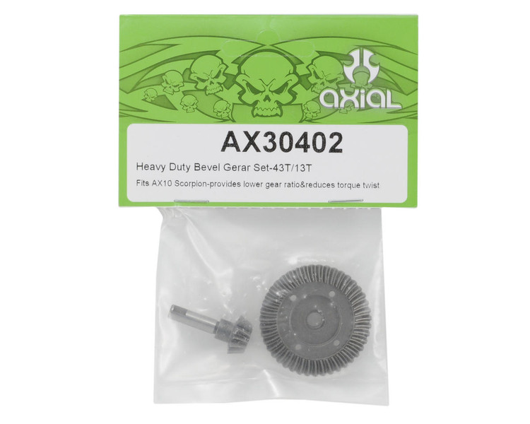 "CPE-AX30402:  Axial HD ""Underdrive\"" Bevel Gear Set (43/13)"