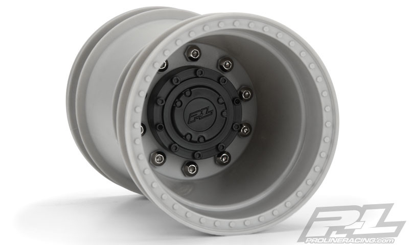 CPE-BRAWL175g:  Clodbuster Brawler Wheel Pair - Gray Wide Offset