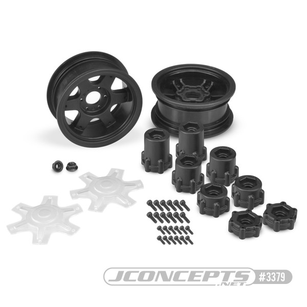 "CPE-DRAGONb:  Dragon 2.6"" Mega Truck Wheel Pair - Black"