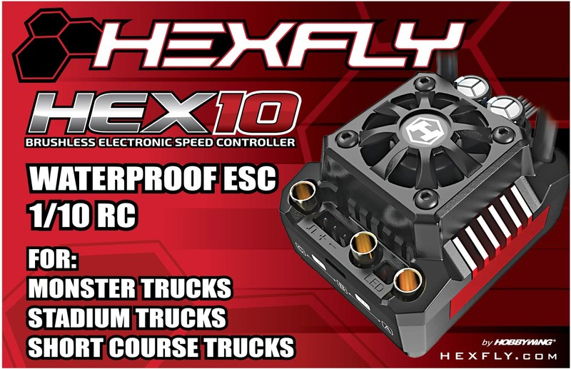 CPE-HEX10:  Hexfly 2-4s 120A Waterproof Brushless ESC