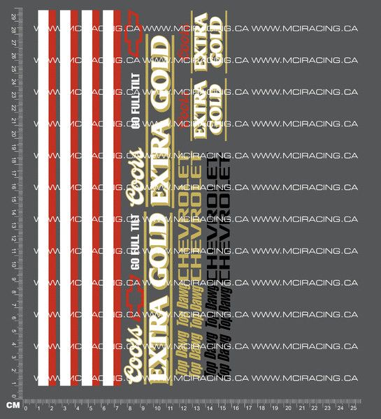CPE-COORSEXTRADECAL:  Coors Extra Gold Decal Sheet