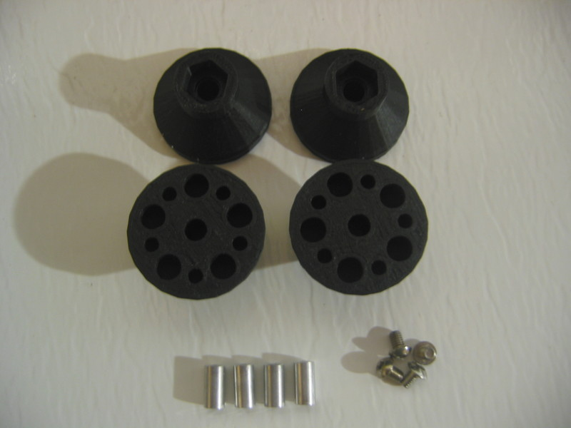 CPE-WKHUB: Wheely King Clodbuster/TXT Wheel Hub Adapters