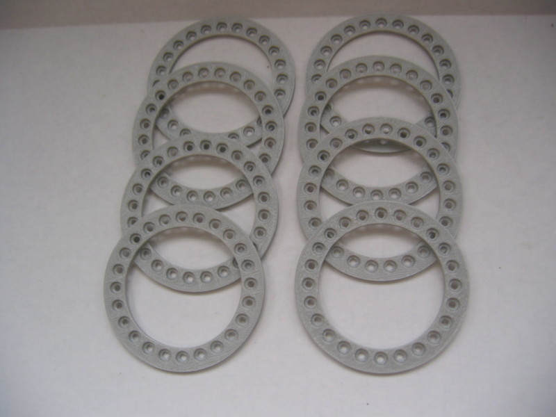 CPE-BEAD3RING:  Clodbuster Plastic Beadlock Ring Set