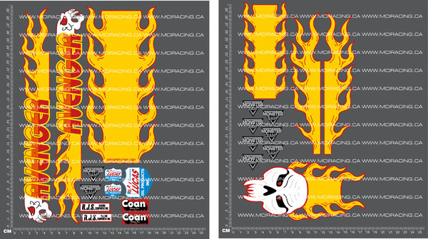 CPE-AVENGDECALo:  Avenger Decal Sheet - Orange