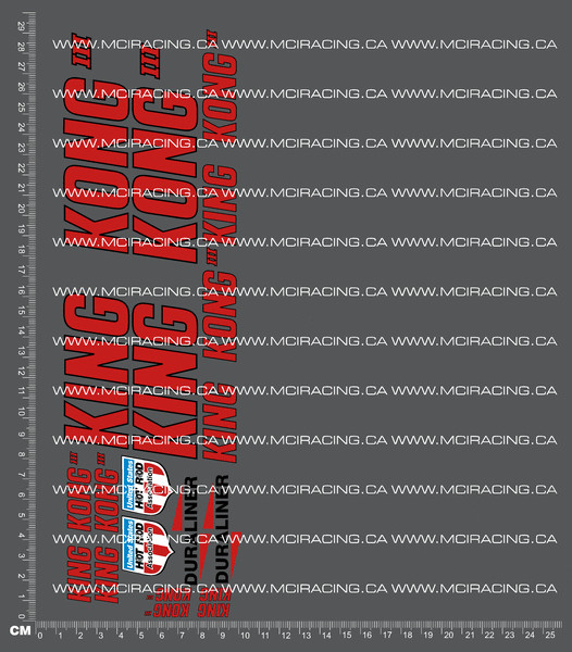 CPE-KINGKONGDECAL: King Kong Decal Sheet