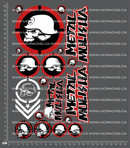 CPE-MMULISHADECAL:  Metal Mulisha Decal Sheet