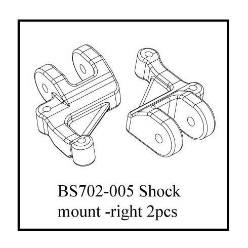 BS702-005: Ground Pounder Lower Shock/Link Mounts - Right
