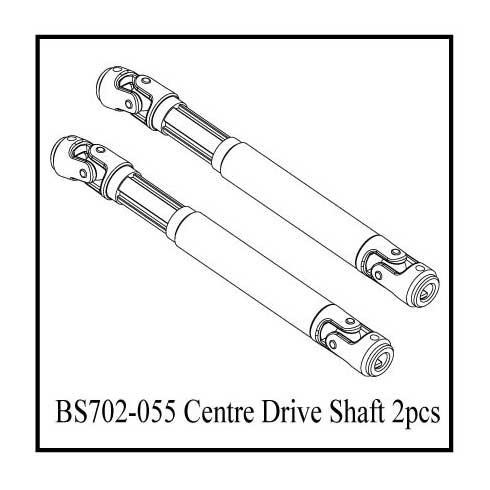 BS702-055:  Ground Pounder Front Driveshaft Set - Plastic