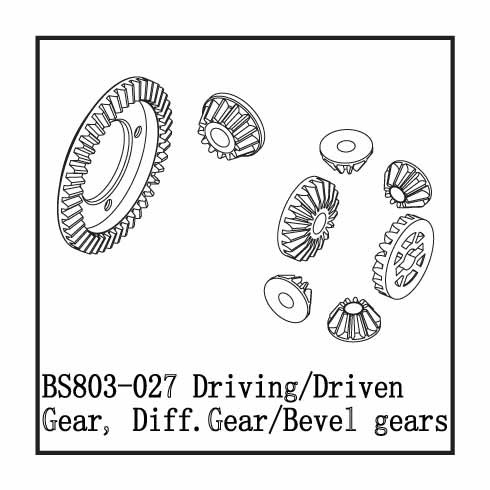 BS803-027: Ground Pounder Hardened Steel Ring & Pinion Set