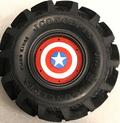 CPE-DRAGRINGCAPAM:  Dragon Wheel Ring Set - Captain America